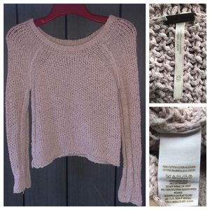 Free People Cropped Cotton Sweater